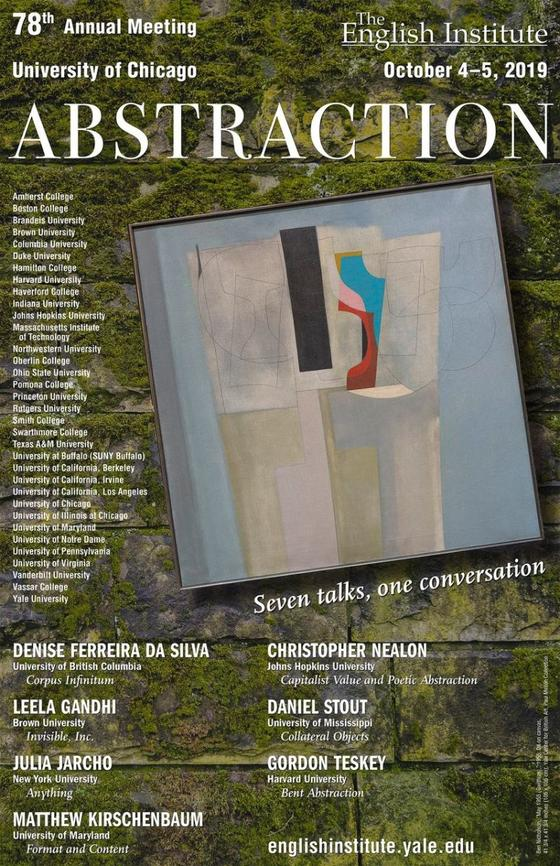 ABSTRACTION, 2019 Conference | The English Institute
